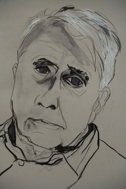 Robert Frost in Black and White