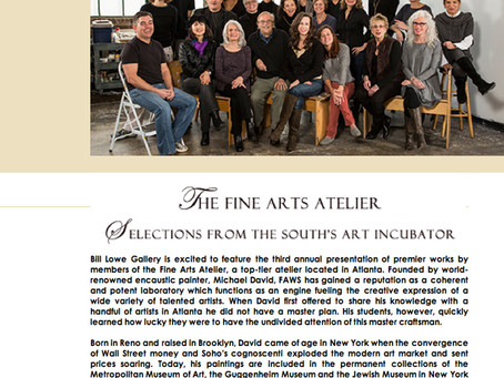 Selections from the South's Art Incubator with The Fine Arts Atelier at Bill Lowe Gallery in Atlanta
