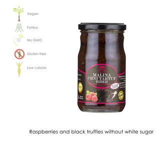 Raspberry and black truffle with sugar free