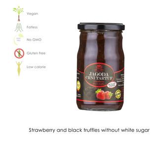 Strawberry and black truffle white sugar free