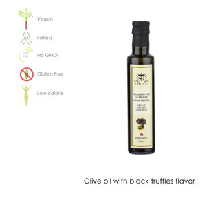Olive oil with black truffle flavor