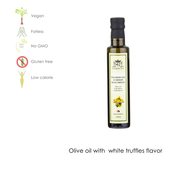 Olive oil with white truffle flavor