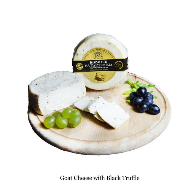 Goat cheese with black truffle