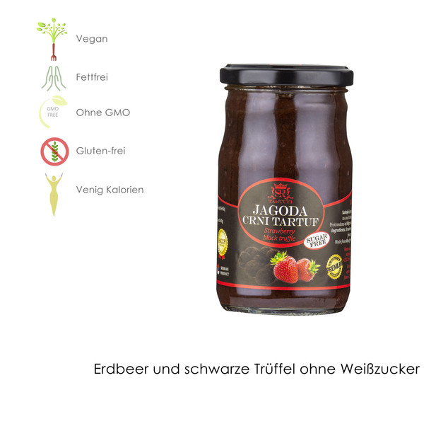 Erdbeeren und schwarze Trüffeln OHNE WEIßEM ZUCKER