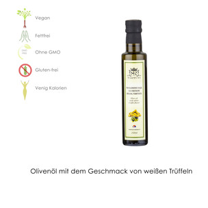 Olivenöl mit Geschmack von weißen Trüffeln