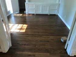 Wood floor refinishing