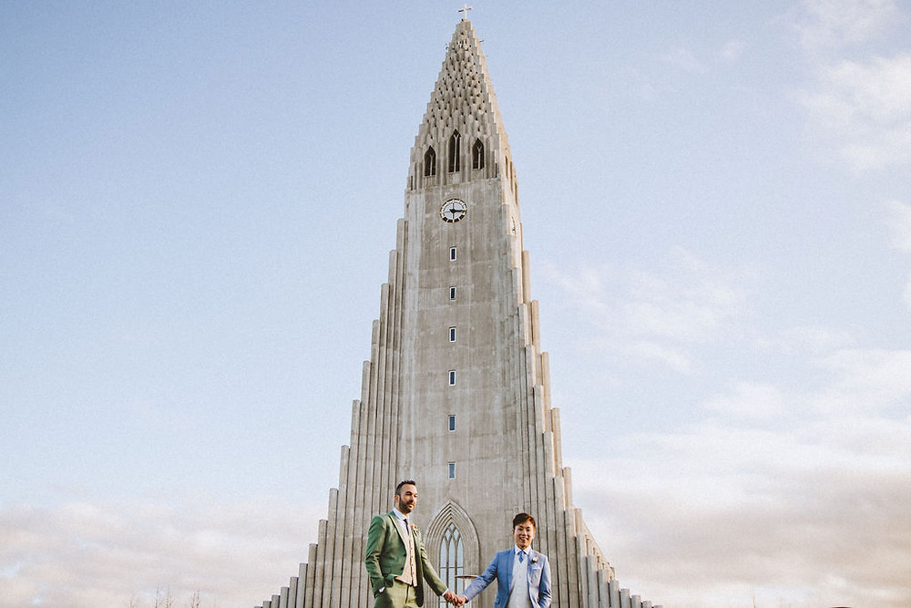 Hallgrímskirkja church Wedding photo