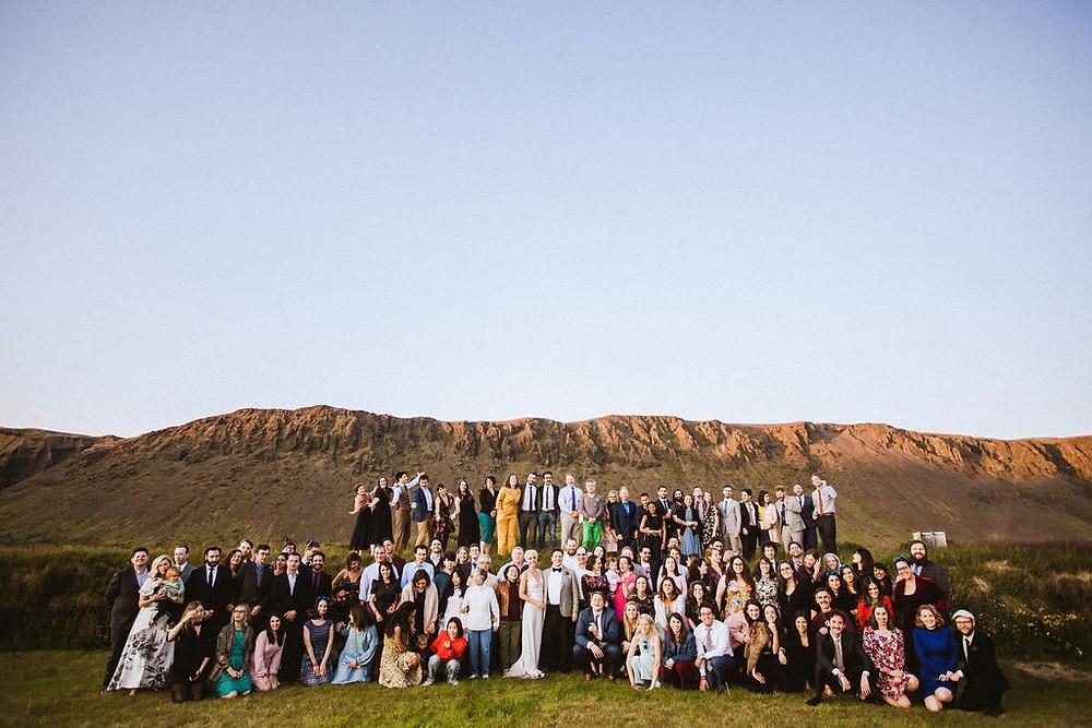 Iceland Wedding group photo