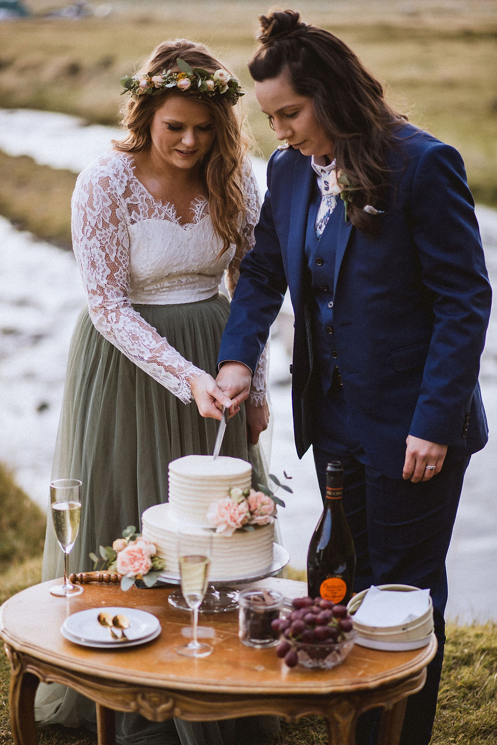 Lesbian elopement in Iceland planned by Pink Iceland wedding planner