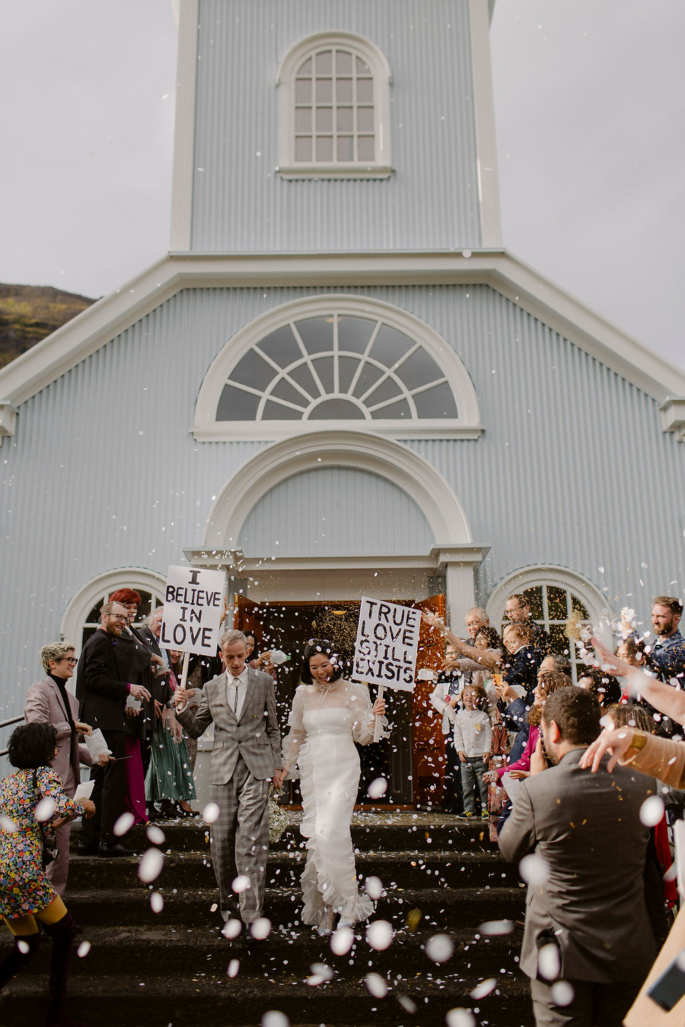 Seydisfjordur Blue Church Wedding