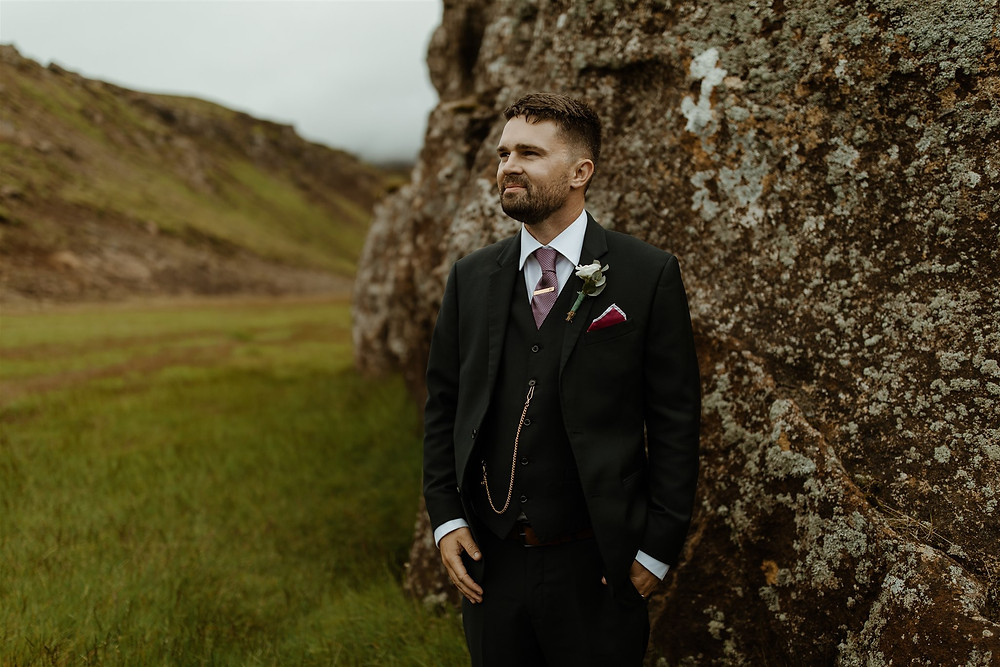 Iceland wedding photos in Nesjavellir