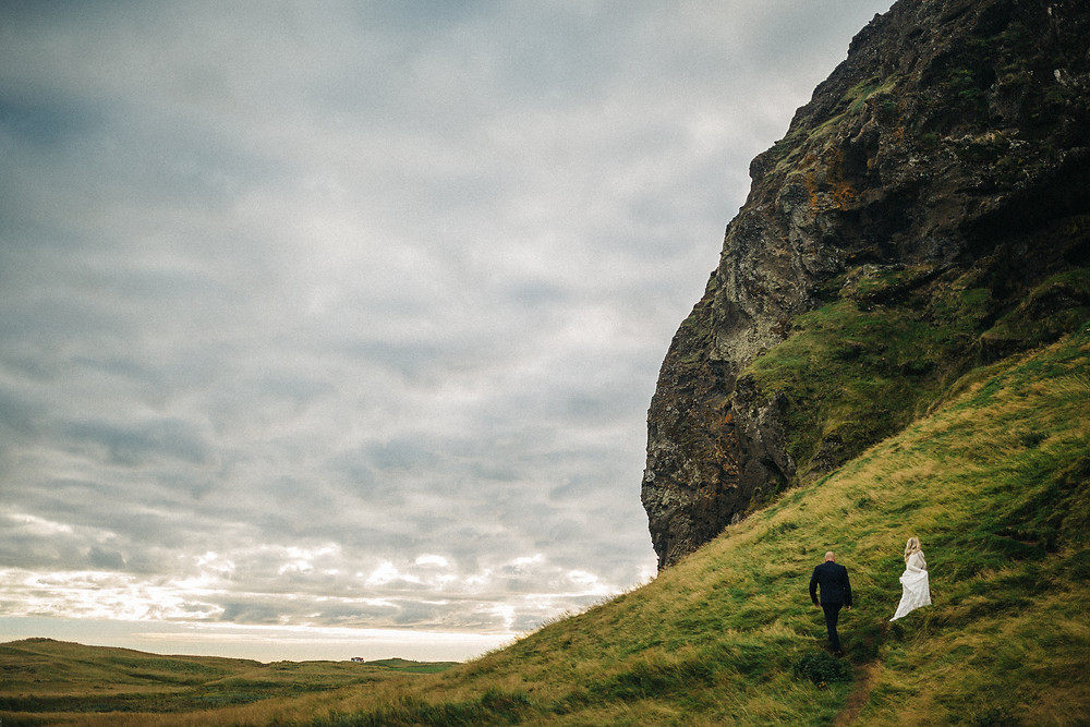 Iceland elopement in Vik