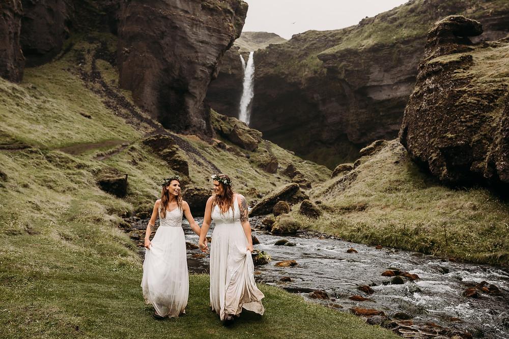 Same sex wedding ceremony Iceland