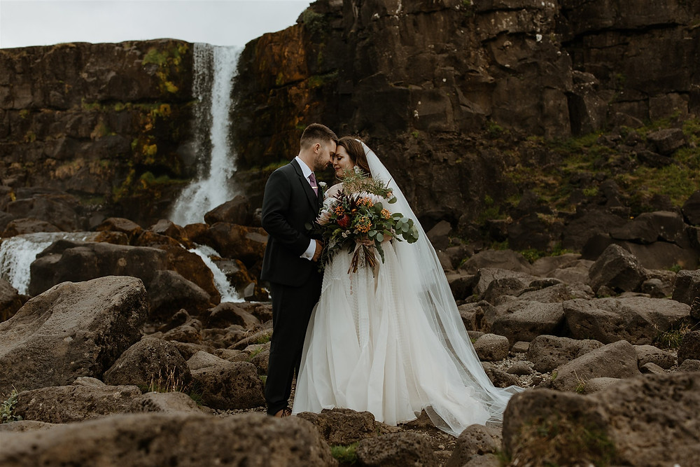 Oxararfoss wedding photo