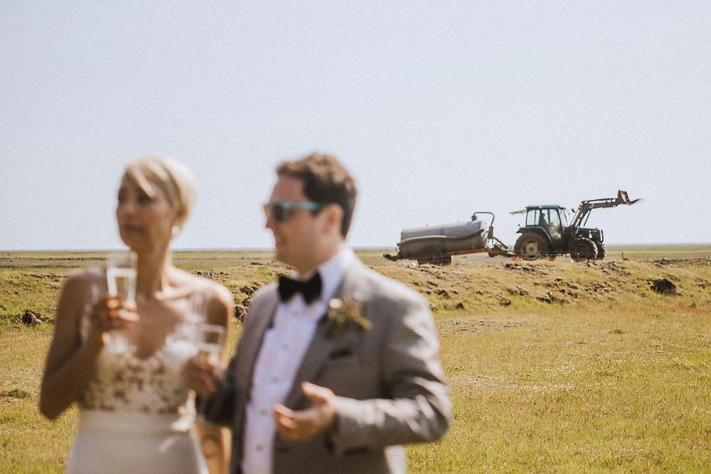 Iceland Wedding picnic toast