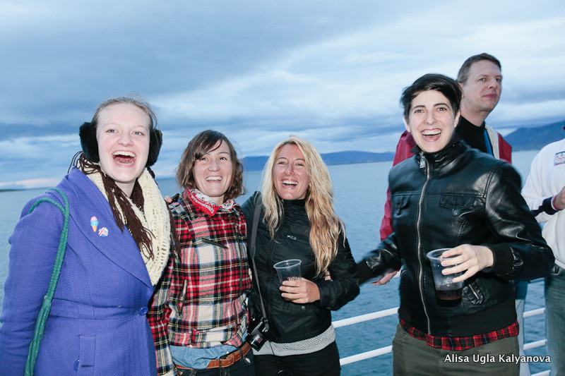 Lesbians in Iceland on the Queer cruise for Reykjavik Pride