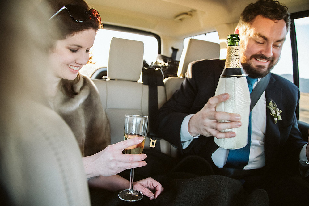 Wedding couple eloping in Iceland