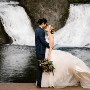 Hjálparfoss Waterfall Wedding