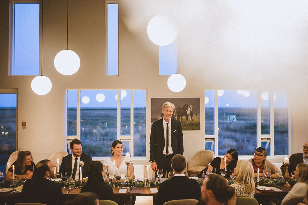 Destination wedding at Umi Hotel in South Iceland planned by Pink Iceland