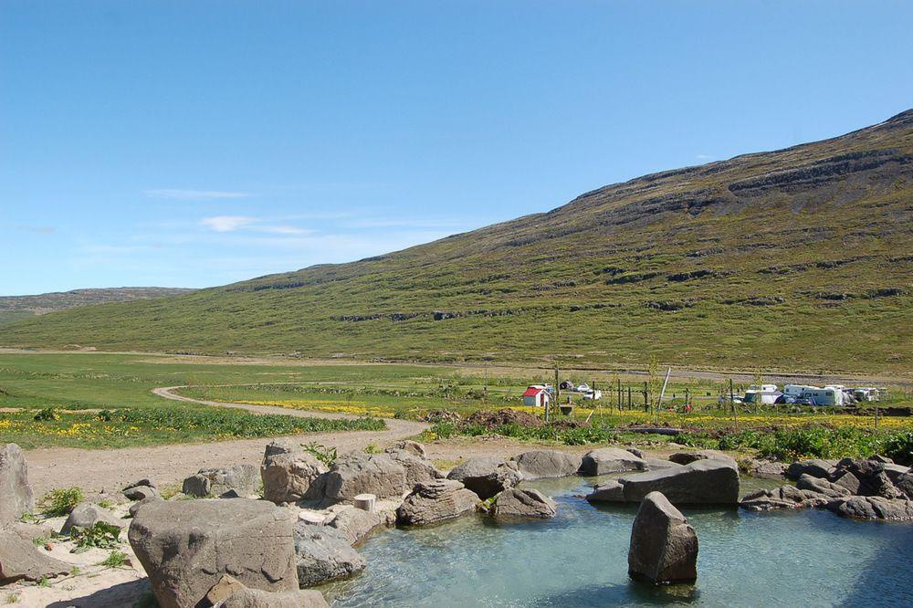 Westfjords nature pool - The Heydalur natural pool with a view!