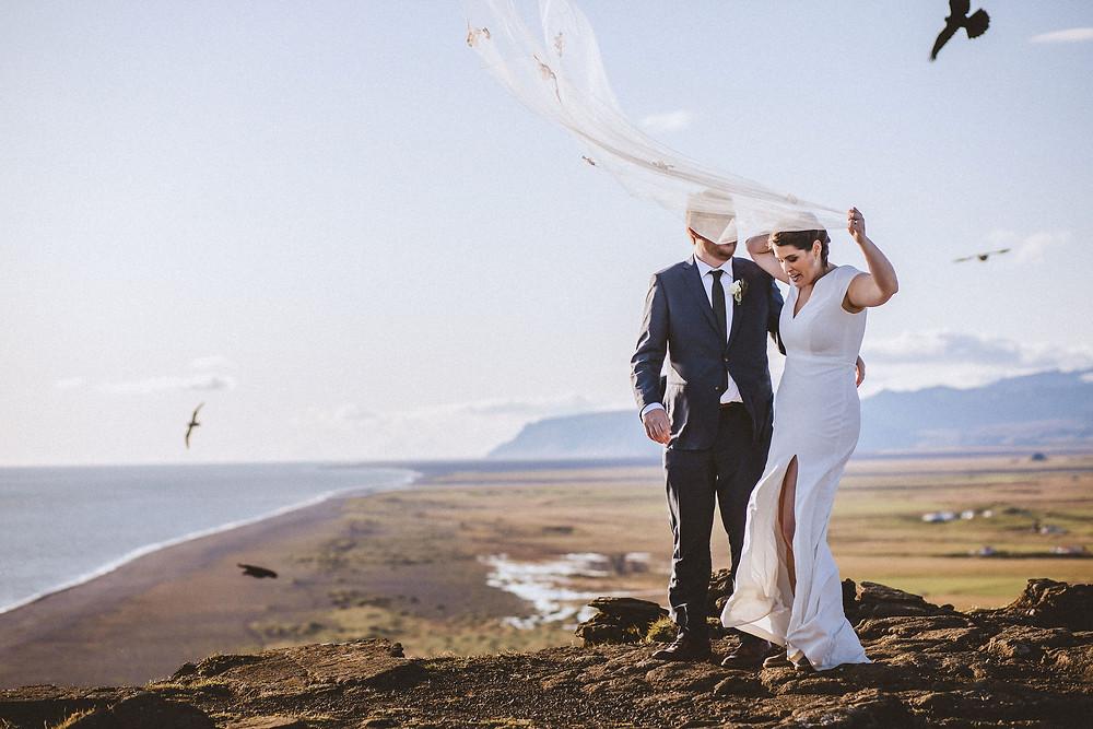 Dyrholaey Wedding photo by Kristin Maria photographer