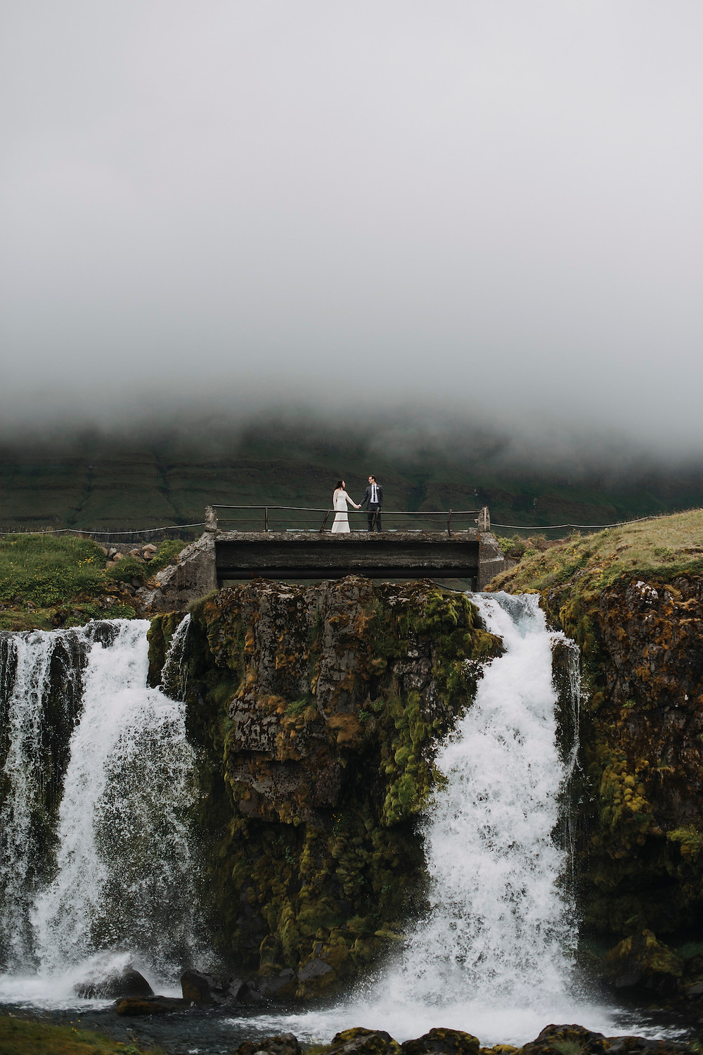 Iceland Waterfall wedding photo