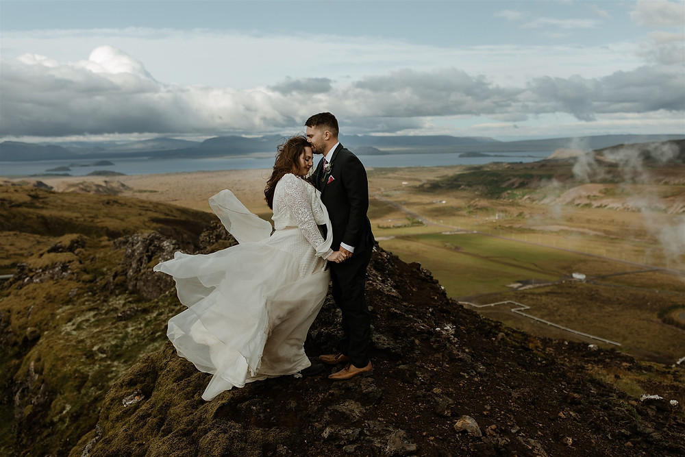 Iceland Wedding photos in Nesjavellir geothermal area