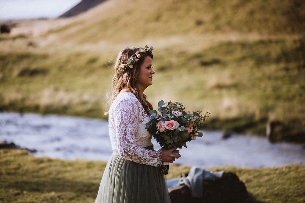 Pink Iceland Elopement in South Iceland