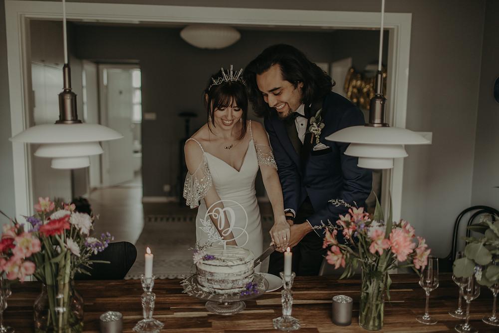 Intimate Reykjavik Wedding reception