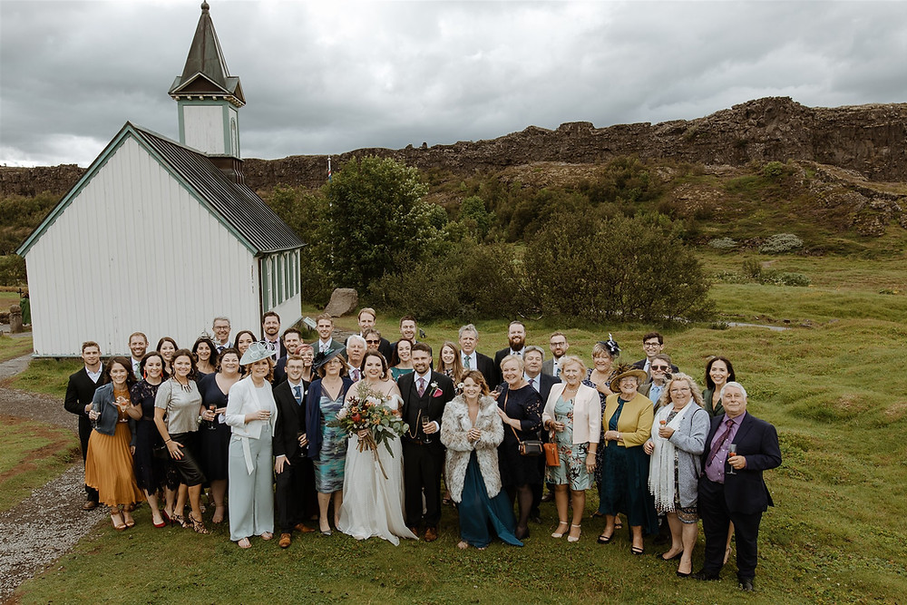 Thingvellir church wedding
