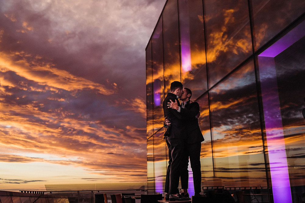 Midnight sun in Reykjavik. Iceland Wedding photographer: Jenny Fu Studio