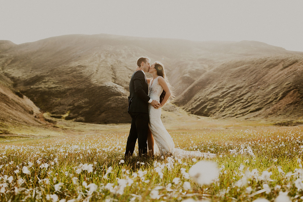 Iceland highland wedding in Landmannalaugar