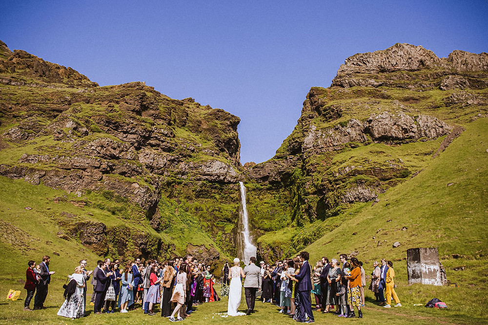Private Iceland Waterfall Wedding ceremony