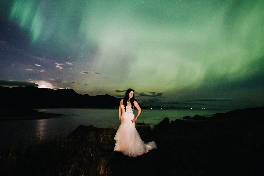 Northern Lights Wedding photo by Iceland Wedding photographer Kristin Maria