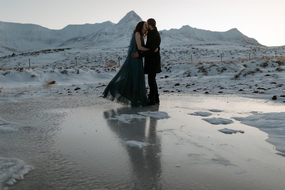 Winter Wedding in Iceland by Pink Iceland Wedding Planner