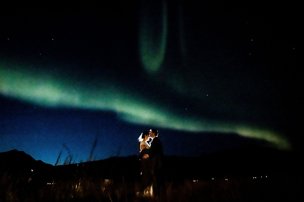 Northern Lights on your wedding night in Iceland
