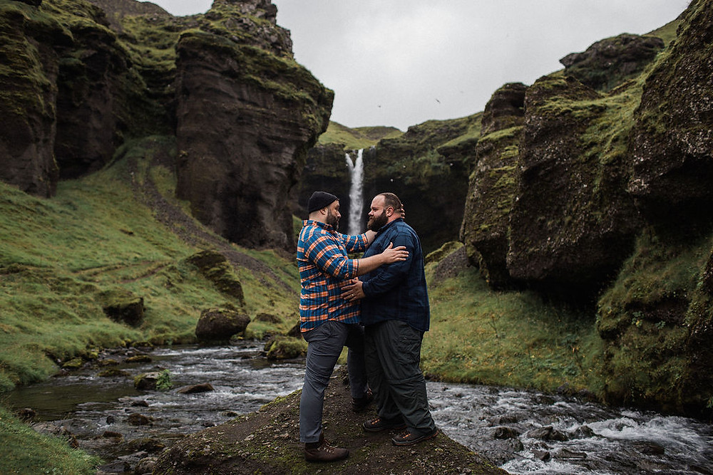 Gay engagement in Iceland