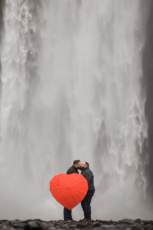 Iceland gay engagement photos