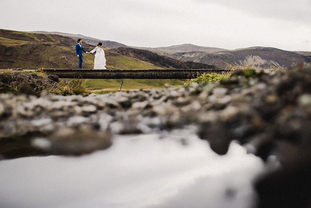 Wedding photo by Iceland Wedding photographer Kristín María