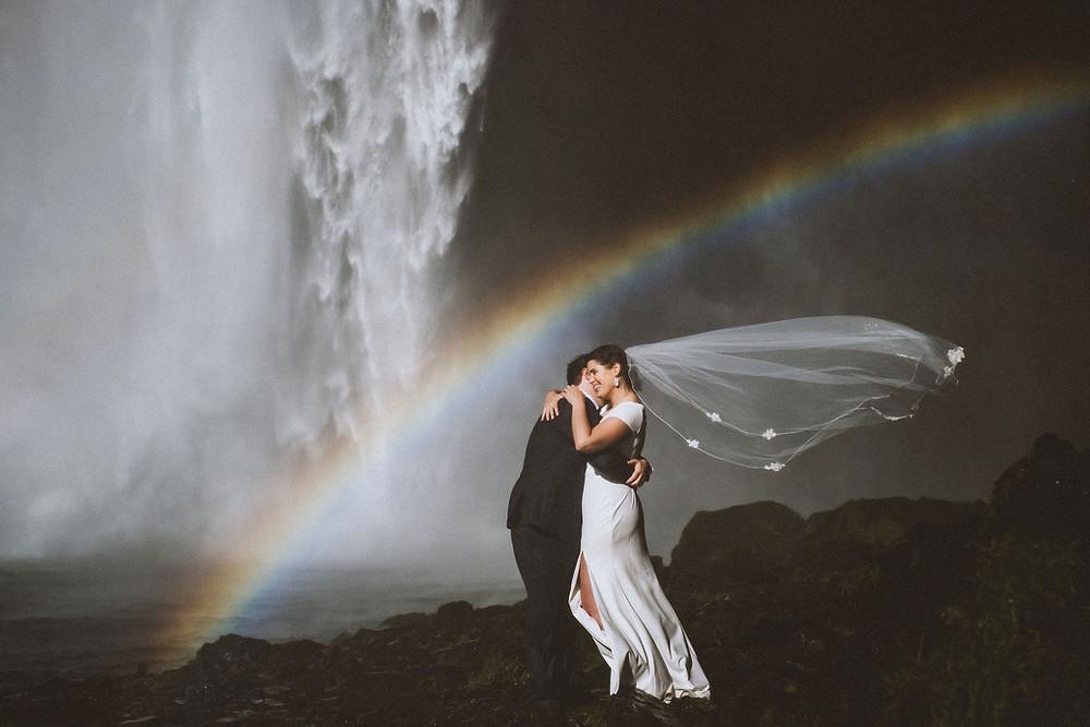 Iceland Wedding photo by Skógafoss