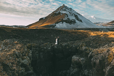 Destination wedding in Snaefellsnes peninsula planned by Pink Iceland