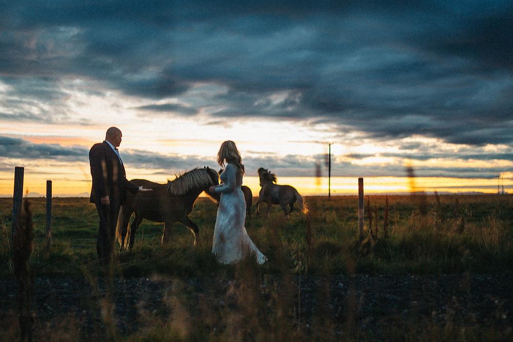 Midnight sun weddings in Iceland