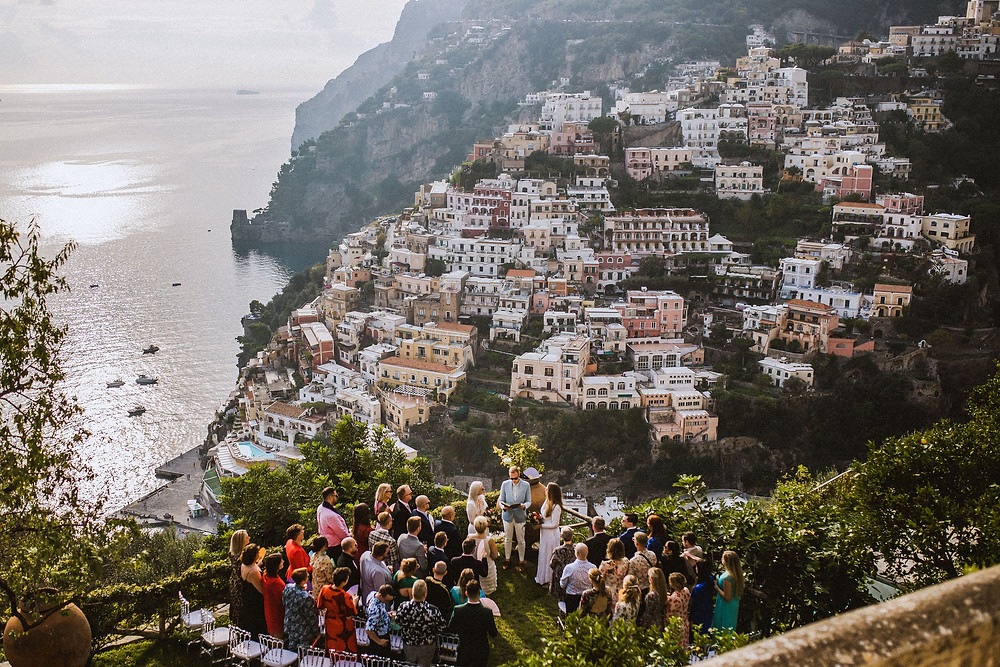 Birna & Eva Maria's wedding ceremony in Positano