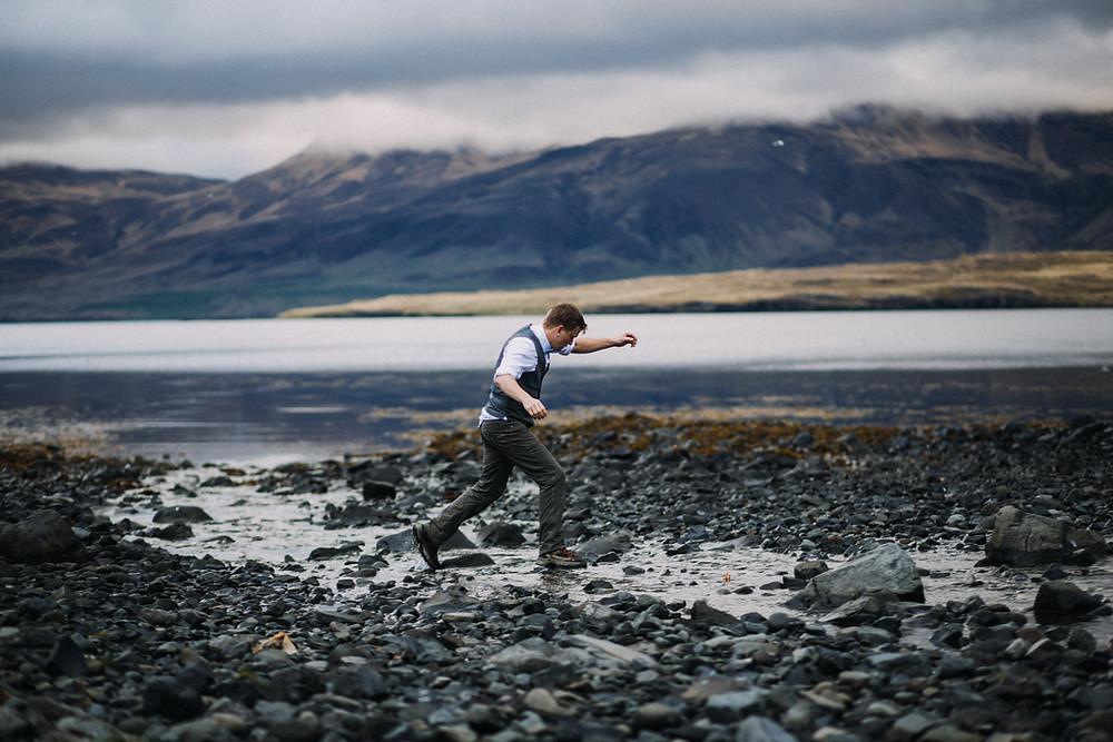 Glymur Waterfall Iceland Wedding photo