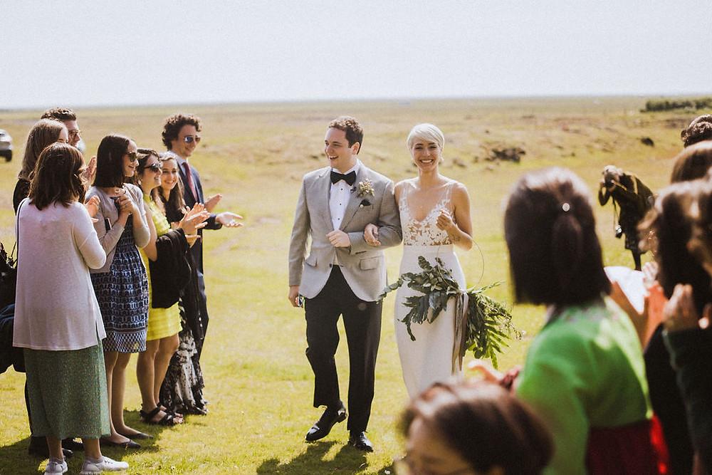 Iceland Waterfall Wedding ceremony