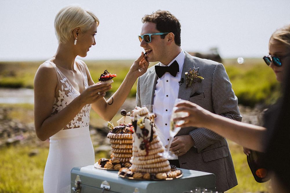 Traditional Iceland wedding cake Kransakaka