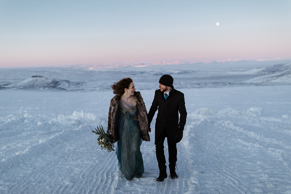 Iceland elopement photo by Iceland Wedding photographer Styrmir and Heiddis