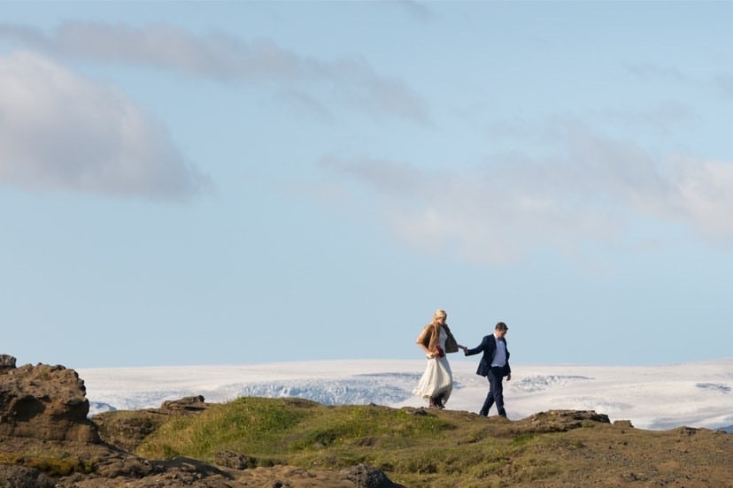 Iceland wedding photoshoot on Dyrholaey peninsula in South Iceland