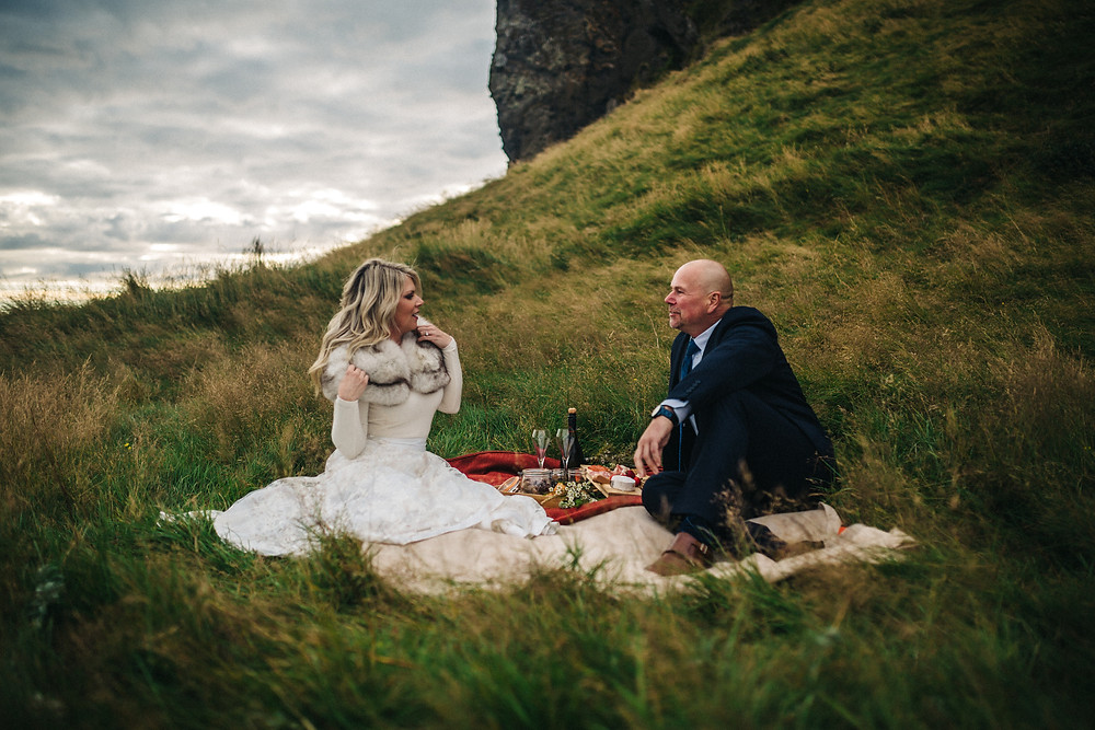 Iceland midnight sun wedding