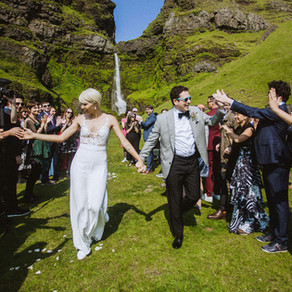 Iceland Private Waterfall Wedding